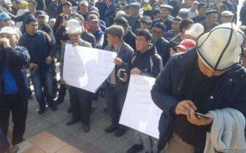 «Кешірім сұрасын!»: Талас тұрғындары Атамбаевтың мәлімдемесіне қарсы митингке шықты