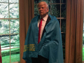 Әлеуметтік желіде Трамптың Қазақстан туын жамылған суреті тарады (ФОТО)