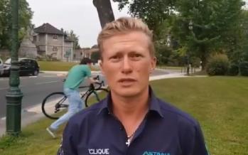 Велосипеді «ұрланған» Винокуров қазақша сөйлеп кетті (ВИДЕО)